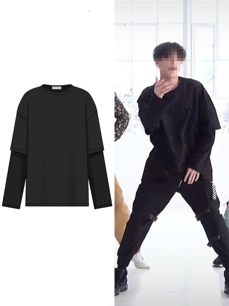 Kpop Blackpink Streetwear Fake Two Hoodies Women/Men Unisex 2020 New Exo Fashion Long-sleeve Sweatshirt Casual Fashion Clothing
