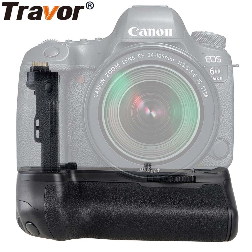 цена на Travor Vertical Battery Grip for Canon 6D Mark II 6D2 DSLR Camera Battery Handle Replacement BG-E21 Work With LP-E6 Battery