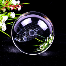 3D Globe Glass Ball Planets Earth Model Solar System Crystal ball Lens Sphere Home Decoration Gift 80mm 100m