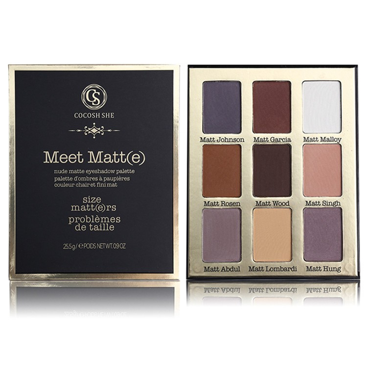 COCOSH-SHE-Brand-9-Color-Meet-Matt-e-Eye-Shadow-Palette-Makeup-Set-Nude-Matte-Eyeshadow