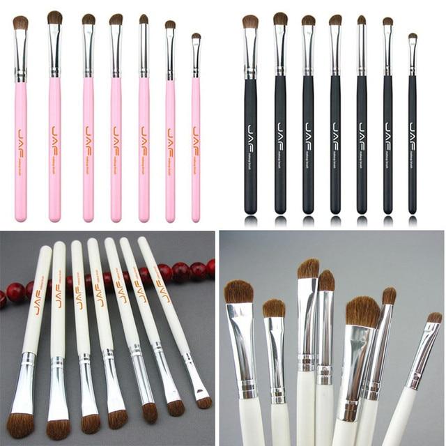 JAF 2018 7PCS Makeup Brushes Horse Hair Eyeshadow Cosmetic Foundation Makeup Brushes Face Make up Beauty Pincel maquiagem