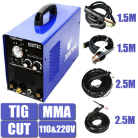 110/220V Dual Voltage 3 In 1 Multifunction Welding Machine 520TSC TIG CUT MMA Plasma Welder Inverter With Accessory Free Post