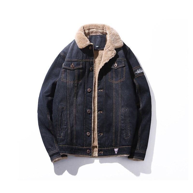 Casual Slim Hommes Cowboy Veste 2018 Coton Noir À Manches Longues Hiver Plus La Taille Streetwear Manteau Vestes Pour Hommes Coupe-Vent Vêtements