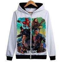 DC Comics 3d Hoodies Superhero Movie Justice League Print Hoodie Sweatshirt Men Women Hoody Tracksuits Jacket