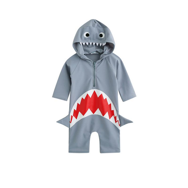 children girl and boy swimsuit shark print swimsuit for swimming one piece swimsuit girls swimwear kids bathing suits HW287