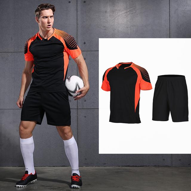 VANSYDICAL Soccer Jerseys Customized  2017 100% Polyester Slim Fit Short-sleeve Men Football Shirt Training Summer Soccer Jersey