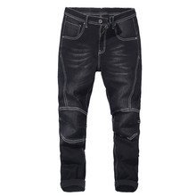 085dd4fde1 Big size men s motorcycle jeans 2019 autumn and winter new elastic harem  pants jeans thick men s