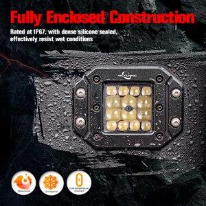 """Image 5 - MICTUNING 2 sztuk 5 """"42W LED światła wiązka punktowa dla Philips chip listwa świetlna LED światła do jazdy wodoodporna robocze Led światła przeciwmgielne do ciężarówki"""