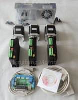 CNC Router 3 Axis kit, 3pcs TB6600 stepper motor driver +one breakout board + 3pcs Nema23 270 Oz in motor + power supply#ST 4045