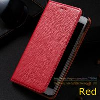 Litchi Genuine Leather Magnet Stand Flip Cover For ZTE Nubia M2 Lite Nubia M2Lite Luxury Mobile