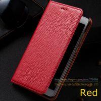 Litchi Genuine Leather Magnet Stand Flip Cover For ZTE Nubia M2 Lite Nubia M2Lite Luxury Mobile
