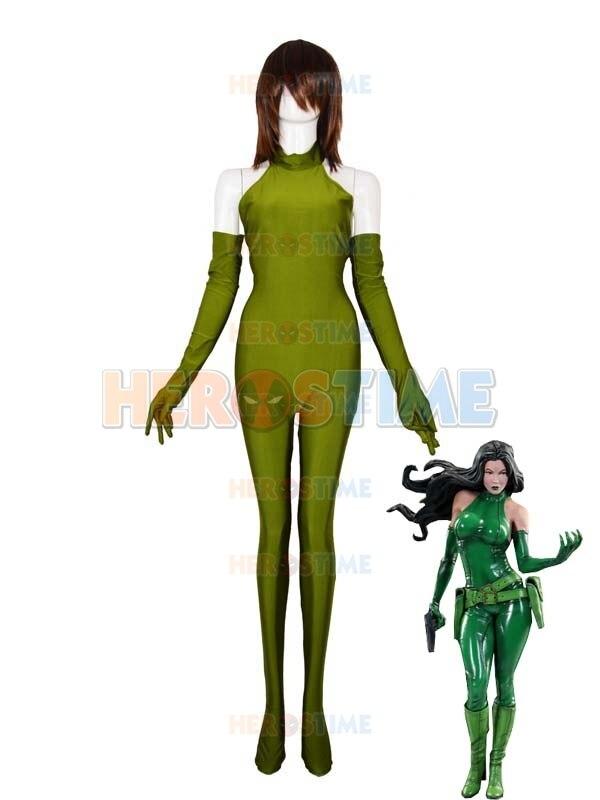 Army Green Madame Hydra/Viper X-man Female Superhero Costume Spandex Zentai Catsuit Custom Made Cosplay Comic Costume