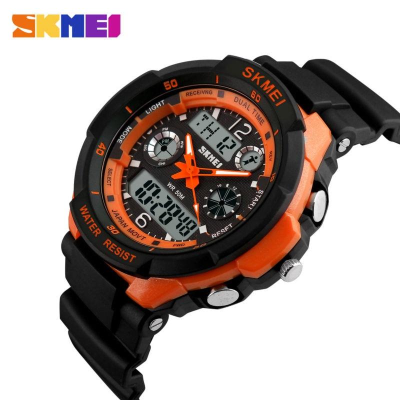 6ed305b45 SKMEI Esportes De Luxo Da Marca Relógios Homens Resistente Ao Choque LED  Relógio Digital Militar relógios