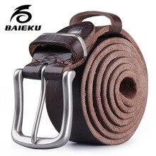 fad9d3c67f6c BIAKEU Rétro casual ceinture en cuir Hommes en cuir de ceinture Jeans  accessoires ceinture(China