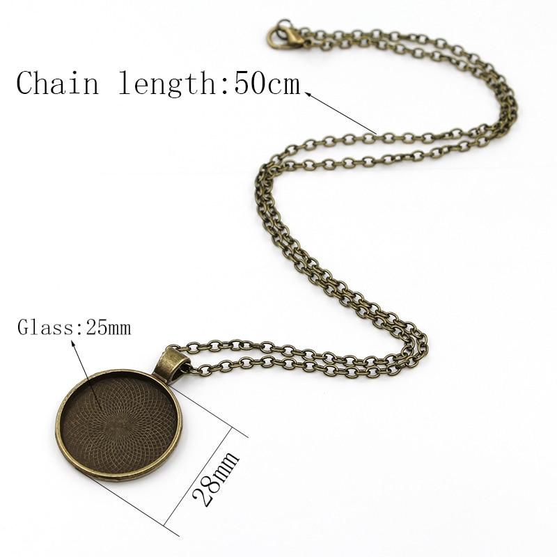 Antique Bronze Cabochon Pendant Necklace - novariancreations.com