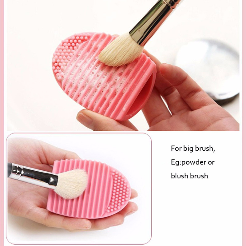 Adomaner Cosmetic Brush Cleaning Tool Egg Makeup Brushes