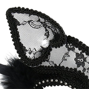 Lace Black Cat Eye Mask 4