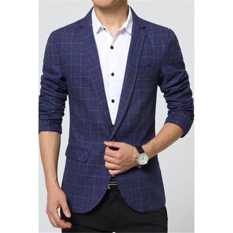 Online Get Cheap Casual Blue Suit Jacket Men -Aliexpress.com ...
