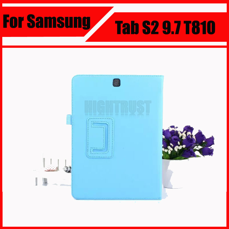 3 in 1 Hot Sale Lichee Style PU Leather Stand Case Cover for Samsung Galaxy Tab S2 9.7 T810 T815 + Stylus + Screen Film