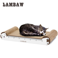 Cat Scratcher Ruler Design Sofa Couch Cardboard Paper High Quality Cat Toy Scratching Pad Withe With