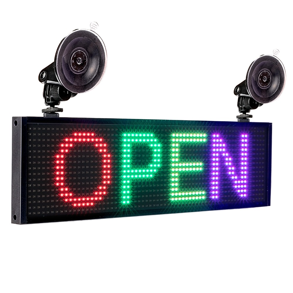 New P5MM 12v Car IOS WIFI SMD2121 RGB Full Color LED Display Programmable Scrolling information Board