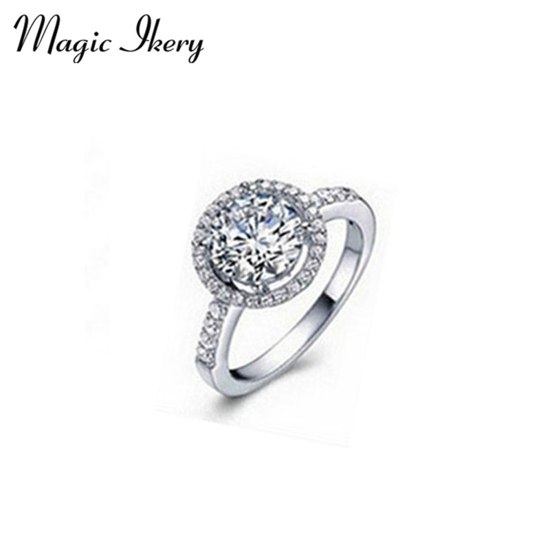 Magic Ikery Wholesales Lots Fashion Jewelry Rose Gold Plated Zircon Crystal Vintage Round The Party font