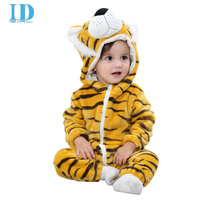 2017 Baby Clothes Newborn Rompers Carters For Coral Fleece Tiger Animal Jumpsuit Spring Autumn Infant