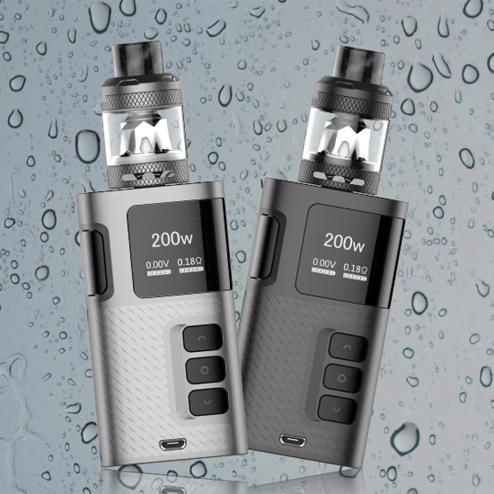 Original Kangertech Ripple 200W TC Kit Ripple Mod Box & 3.5ml Ripple Tank NR Mesh Coil Bottom Airflow Vape Kit VS Subox Mini C