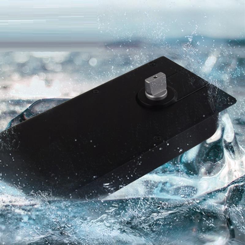 Pivot de ressort de porte en verre avec plaque de plancher Invisible et lourd en aluminium moulé charnière en verre de ressort de plancher de positionnement de 90 degrés - 6
