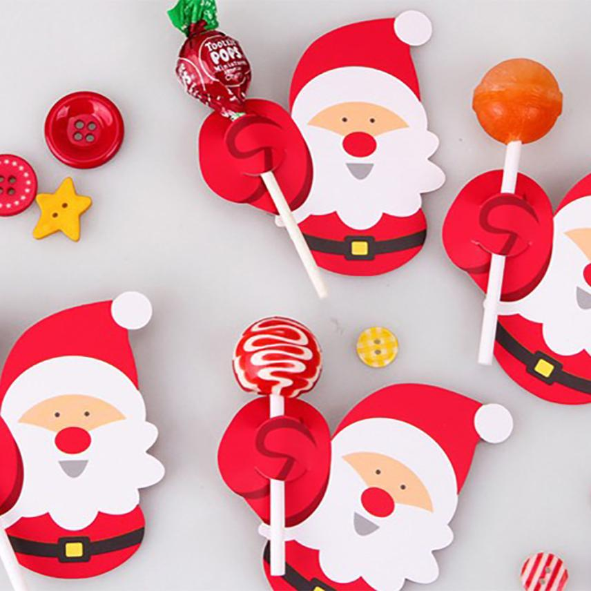 Christmas Paper Candy Chocolate Lollipop Sticks Cake Pops Xmas Decor Party 10.12