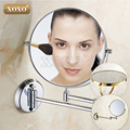 Dual Makeup mirrors 1:1 and 1:3 magnifier Copper Cosmetic Bathroom Double Faced Bath Mirror wall mirror 1016/1018/7018