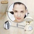 Dual Maquiagem espelha 1:1 e 1:3 lupa Copper Banho Cosméticos Dupla Face Bath Espelho da parede espelho 1016/1018/7018
