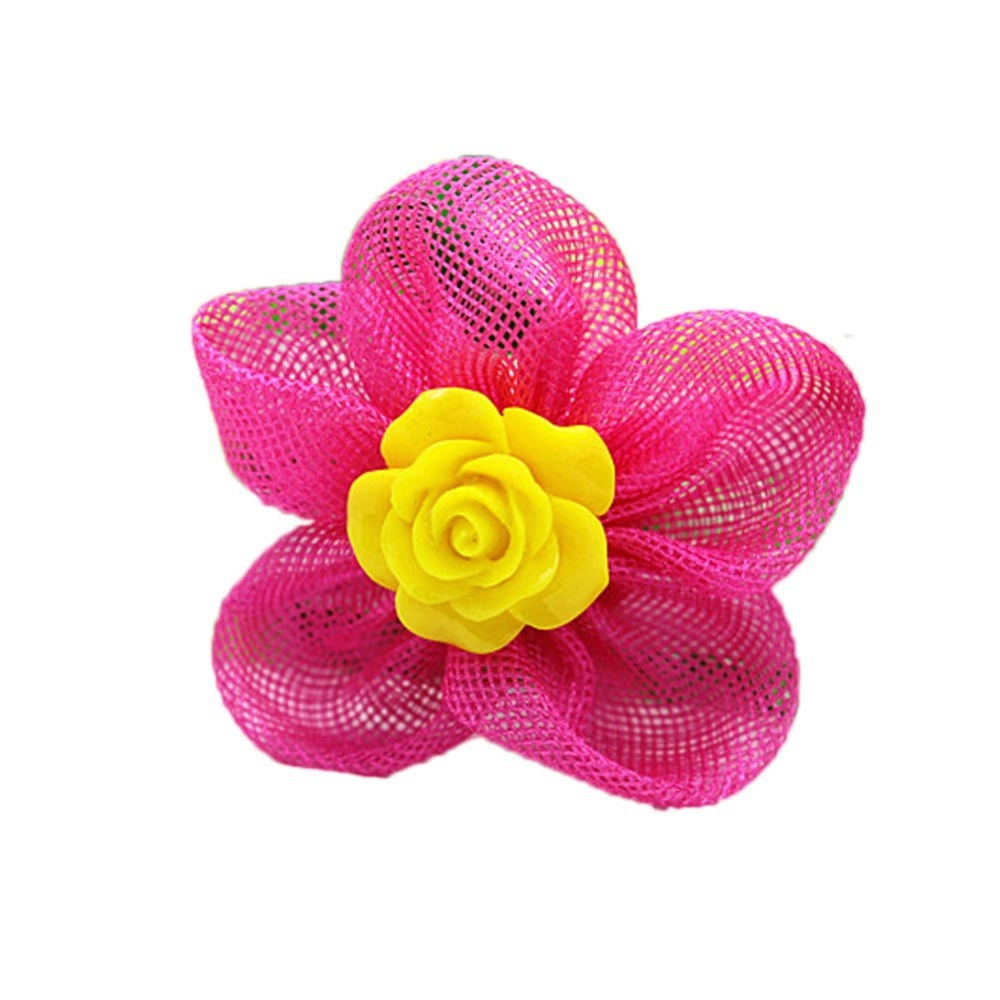 2017  New Fashion Hair Accessories  Lovely Sunflower Shaped Hair Rope Rubber Bands 6 colors
