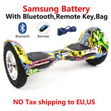 No Tax Intelligent 10 inch self balance electric hoverboard with bluetooch bag remote electric scooter standing drift skateboard