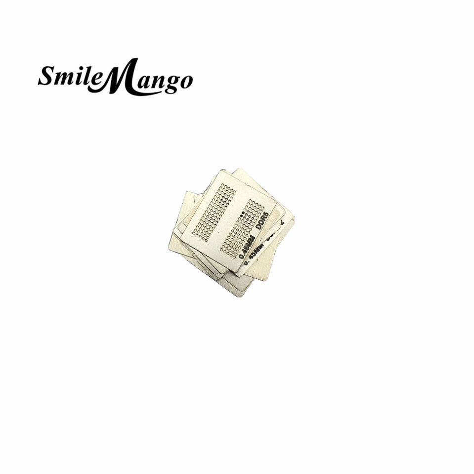 SmileMango 2017 High quality Heat Rework Reballing Universal Stencil Template 12pcs BGA Directly 3d ic chip bga reballing stencil kits set solder template for iphone a8 a9 a10 high quality