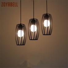 ФОТО zoyabell pendant light europe modern vintage iron dinning luminaire industrial decor retro design lamp pendant hanging light