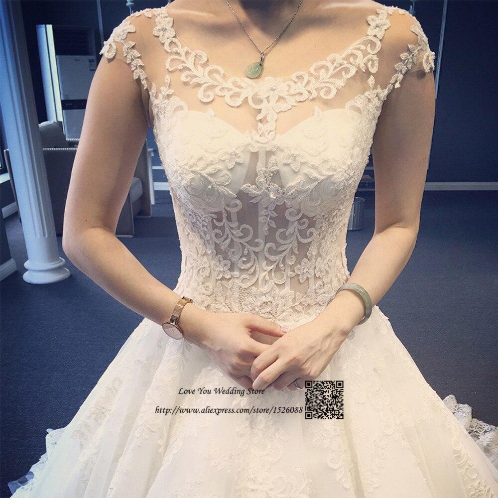 Vestido De Noiva Renda Vintage Lace Princess Wedding Dress: Vestido De Noiva Princess Lace Wedding Dresses Ball Gown