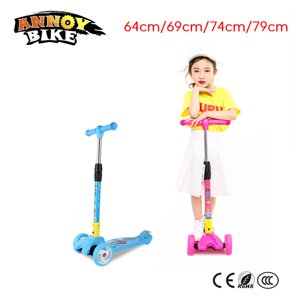 Children Kick Scooter Baby Foldable 3 Wheels LED Outdoor Sport 4-12 Years Old Adjustable Height Triciclo Bikes Toys Gift For KidChildren Kick Scooter Baby Foldable 3 Wheels LED Outdoor Sport 4-12 Years Old Adjustable Height Triciclo Bikes Toys Gift For Kid