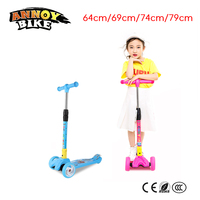 Children Kick Scooter Baby Foldable 3 Wheels LED Outdoor Sport 4 12 Years Old Adjustable Height Triciclo Bikes Toys Gift For Kid