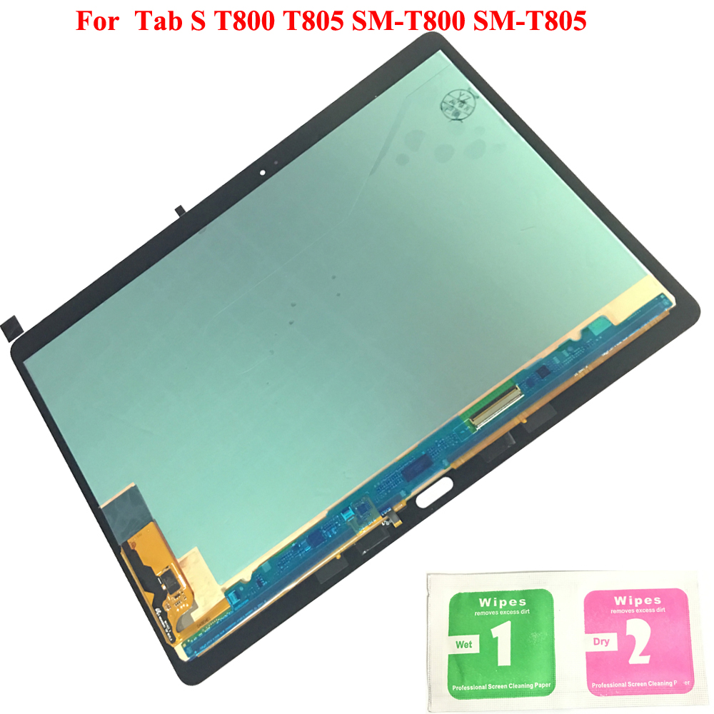 Nouveau LCD Affichage à L'écran Tactile Digitizer Capteurs L'assemblée de Remplacement Du Panneau Pour Samsung GALAXY Tab S T800 T805 SM-T800 SM-T805