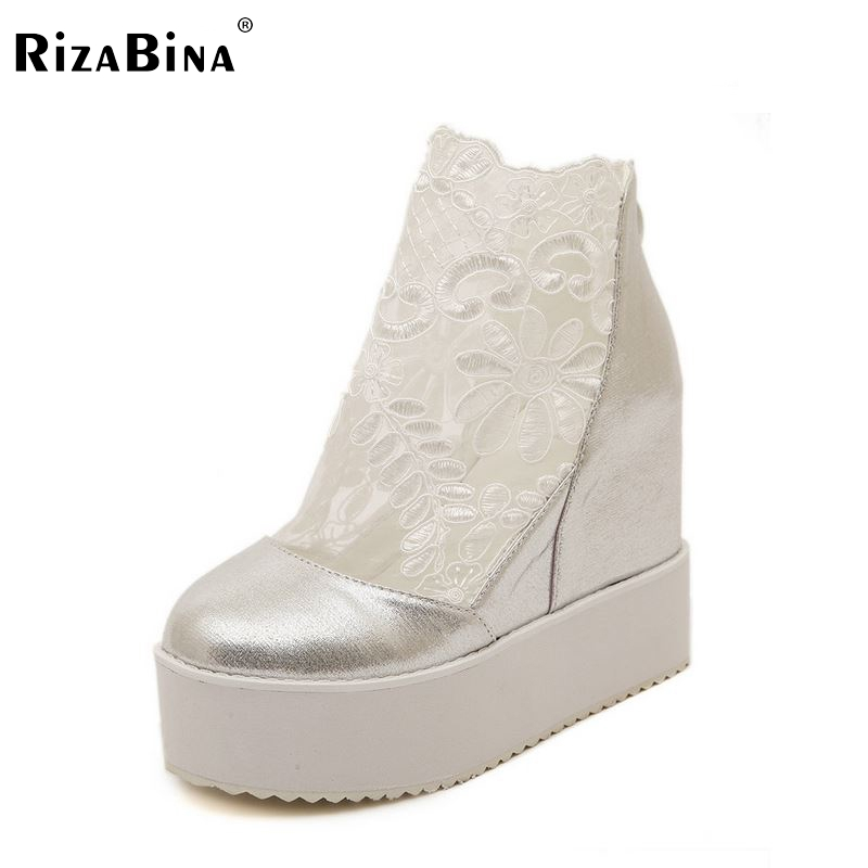 women wedge high heel shoes sexy platform stiletto spring fashion heeled footwear brand pumps heels shoes size 34-39 P17875