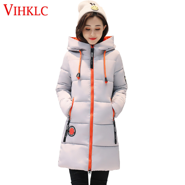 4878399d4732f Plus Size Winter Coat Women 2017 New Hot Sale Wadded Jacket Female Solid  Color Hooded Thick Warm Parka Cotton Outerwear A988