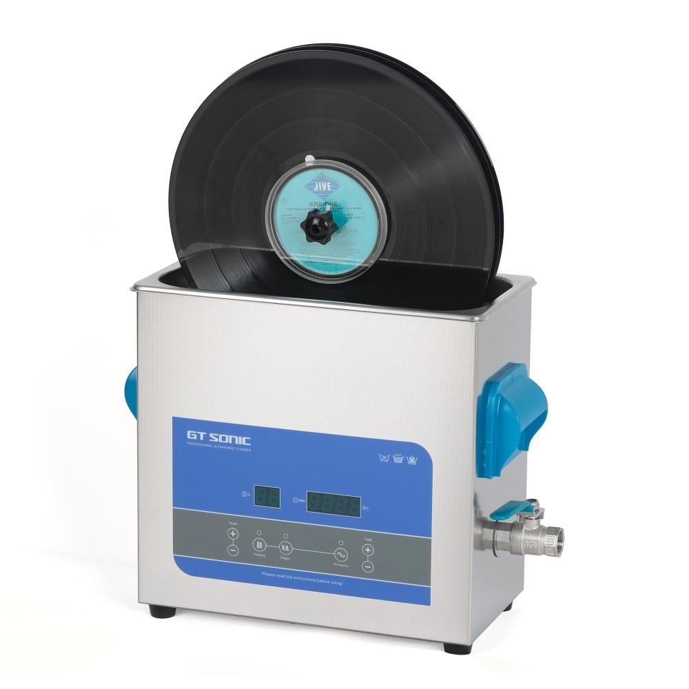 Vinyl Record Aluminum alloy Bracket Vinyl Ultrasonic Cleaner 6L for 12 inch LP 7 inch EP