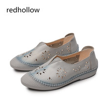 цена на Women Flats Shoes Women Loafers Ladies Slip On Flat Shoes Genuine Leather Driving Shoes Women Shoes Soft Ballet Flats Moccasins