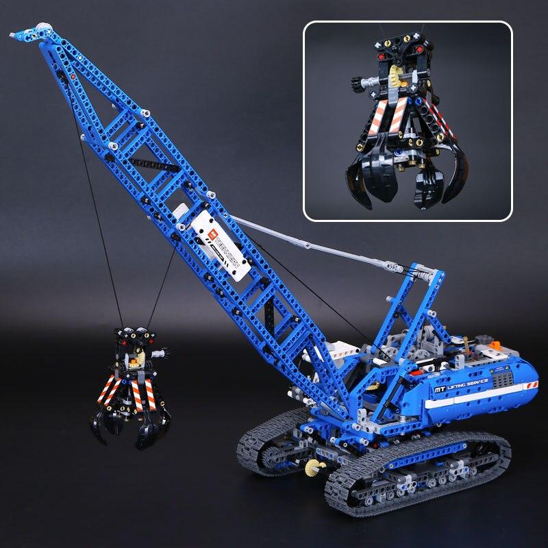 New 1401Pcs Genuine Technic Mechanical The Crawling Crane Set Lepins MOC Building Blocks Bricks Educational Toys