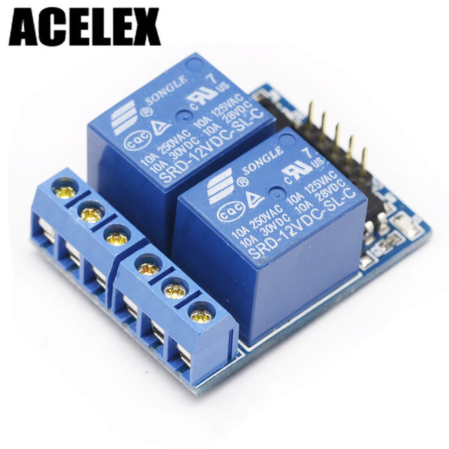US $1 3 |2 two channel relay module relay expansion board with optocoupler,  3 3V and 12V compatible-in Replacement Parts & Accessories from Consumer