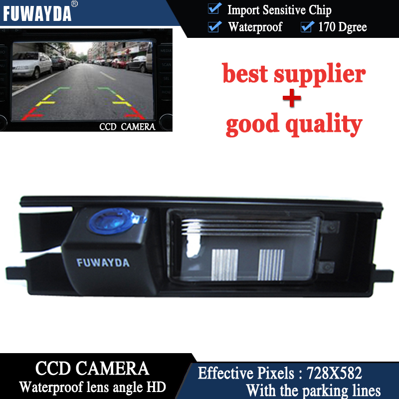 FUWAYDA CAR REAR VIEW REVERSE BACK CCD 170 DEGREE WATERPROOF WITH REFERENCE LINE NIGHT VISION font