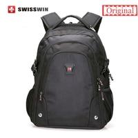 Swisswin Men S Backpack Waterproof Black Bagpack Men Back Pack Swiss Style 15 Laptop Backpack Orthopedic