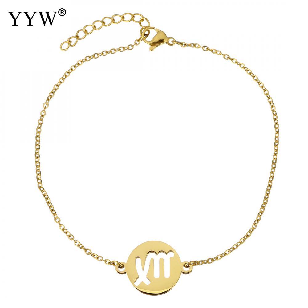 Aliexpress Com Buy 12 Zodiac Signs Constellation: Aliexpress.com : Buy Stainless Steel Bracelet Signs 12