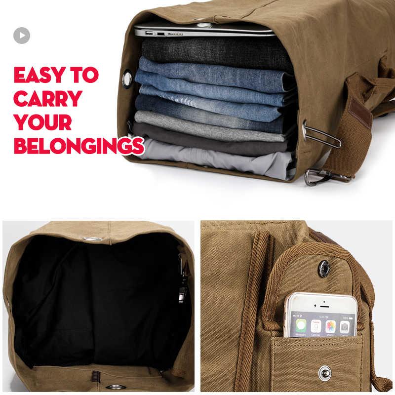 9ffcb341fe9 XINCADA Duffle Bag Travel Bag Men Travel Backpacks Canvas Backpack Vintage  Rucksack Large Capacity carry on backpack Backpack